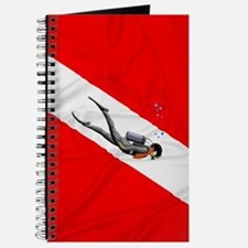 Diver And Dive Flag Journal