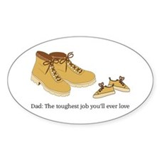 For Daddy Oval Decal