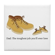 For Daddy Tile Coaster