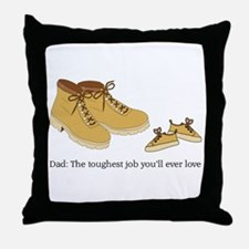 For Daddy Throw Pillow
