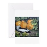 Pumpkin skunk Greeting Cards (10 Pack)