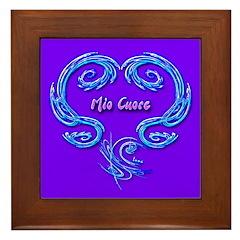Mio Cuore Purple Framed Art Tile