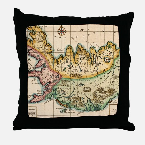 Funny Geography Throw Pillow