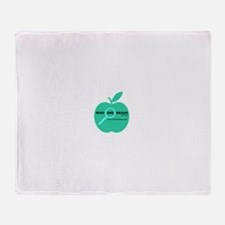 Who She Reads logo Throw Blanket