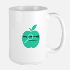 Who She Reads logo Mugs
