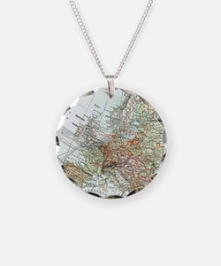 Cool Europe map Necklace
