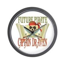 Future Pirates Wall Clock