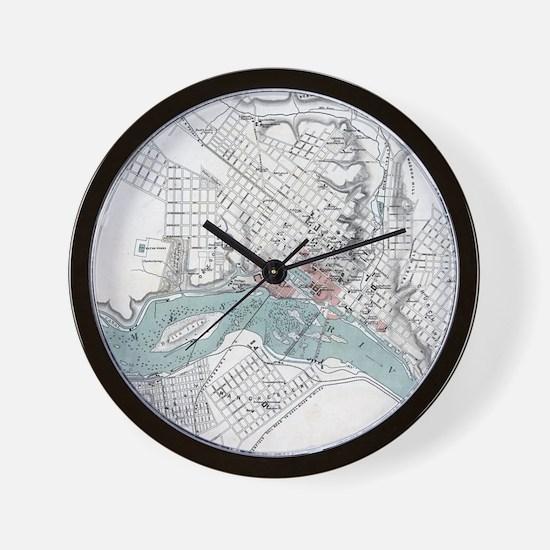 Cute Virginia map Wall Clock