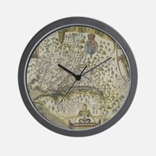 Cute Virginia map Wall Clock