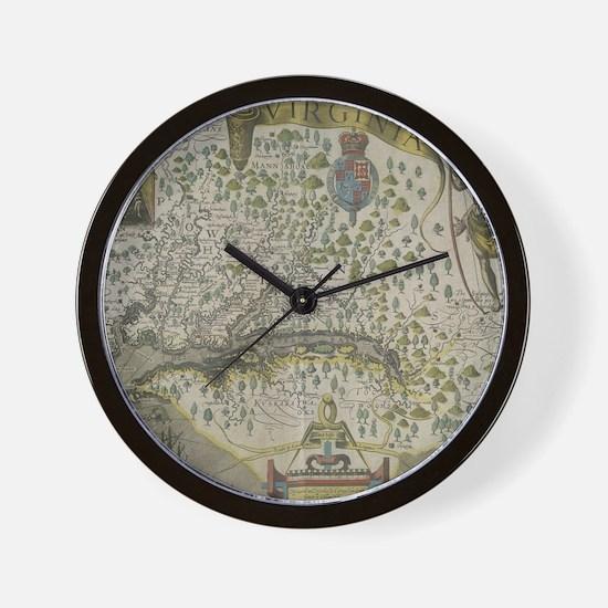 Funny Virginia map Wall Clock