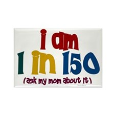 """""""I Am 1 In 150"""" 2 Rectangle Magnet"""