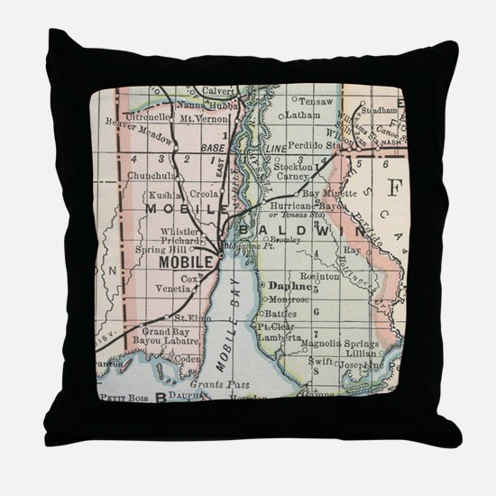 Cute Alabama Throw Pillow