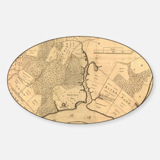 Cute Mount vernon Sticker (Oval)