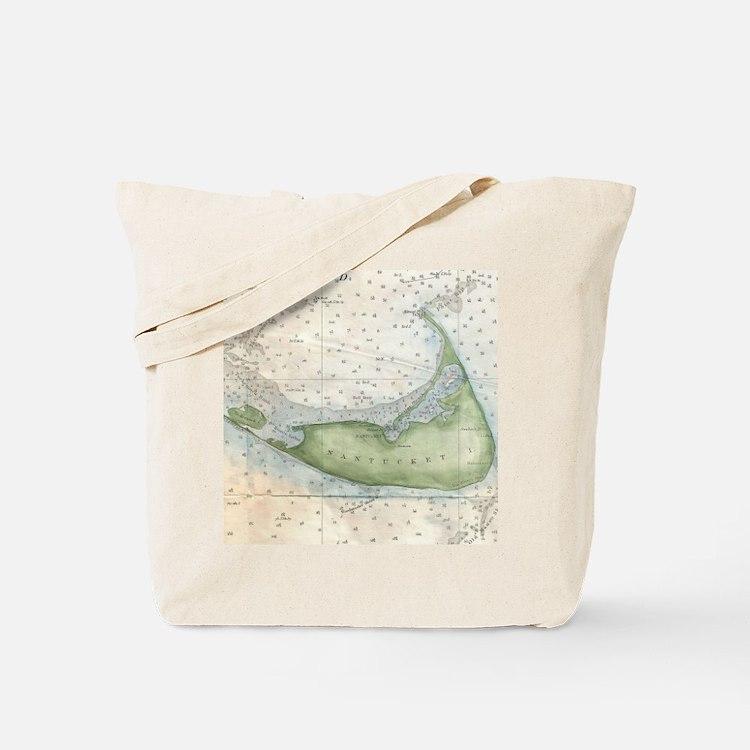 Cute Nantucket vintage Tote Bag