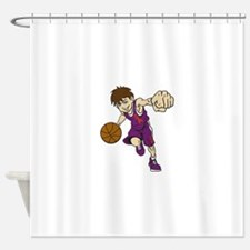 BASKET BOY ORANGE RIBBON Shower Curtain