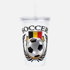 Belgium Soccer Fan Acrylic Double-wall Tumbler