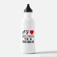 I Love Guatemalan Water Bottle