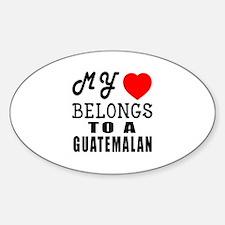 I Love Guatemalan Decal