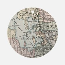 Funny City map Round Ornament