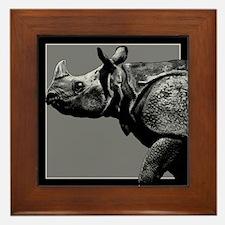 Black Rhino Framed Tile