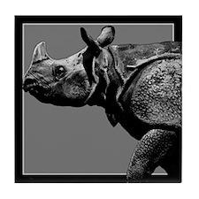 Black Rhino Tile Coaster