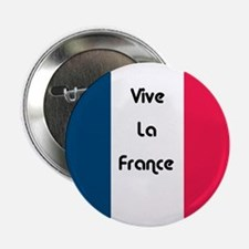 "Cute Vive la france 2.25"" Button (10 pack)"