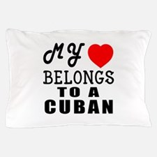 I Love Cuban Pillow Case