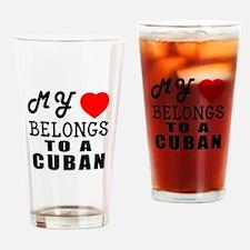 I Love Cuban Drinking Glass