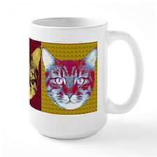 Cat Face x3 Mug