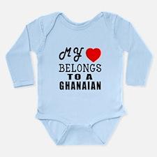 I Love Ghanaian Long Sleeve Infant Bodysuit
