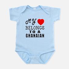 I Love Ghanaian Infant Bodysuit