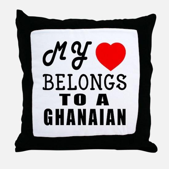 I Love Ghanaian Throw Pillow