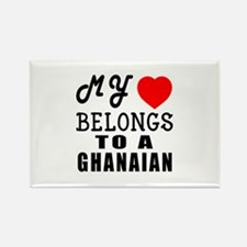 I Love Ghanaian Rectangle Magnet