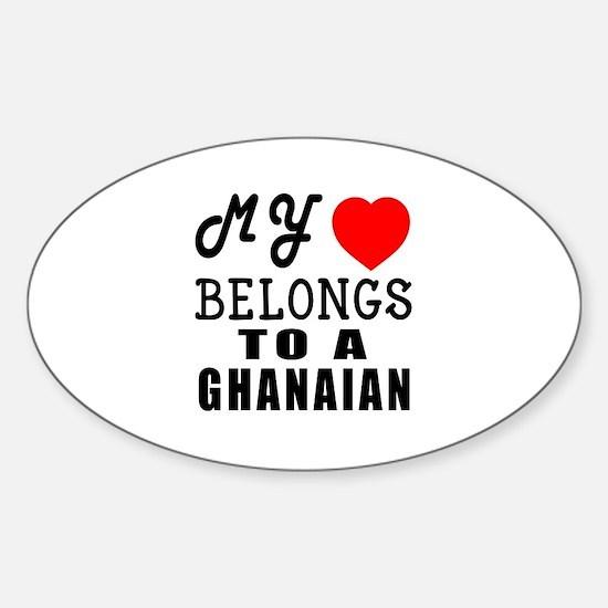 I Love Ghanaian Sticker (Oval)