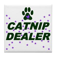 CATNIP DEALER Tile Coaster