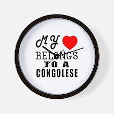 I Love Congolese Wall Clock