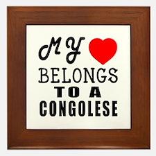 I Love Congolese Framed Tile
