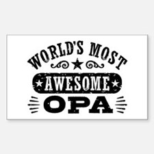 World's Most Awesome Opa Sticker (Rectangle)