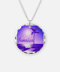 Funny Island Necklace Circle Charm