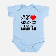 I Love Gambian Infant Bodysuit
