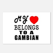 I Love Gambian Postcards (Package of 8)