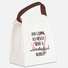 WHAT A WONDERFUL WORLD Canvas Lunch Bag