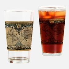 Unique Antique world map Drinking Glass