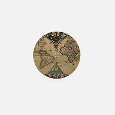 Cute Antique map Mini Button