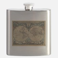 Cool Antique world map Flask