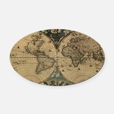 Cool Antique world map Oval Car Magnet