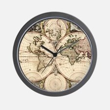 Funny Antique world map Wall Clock