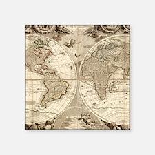 "Antique maps Square Sticker 3"" x 3"""