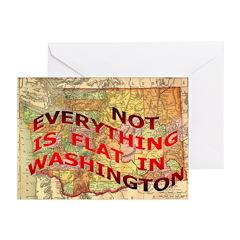 Flat Washington Greeting Cards (Pk of 20)