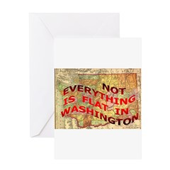 Flat Washington Greeting Card